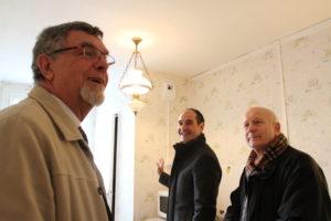 Visite des locataires du 12 rue de la Halle
