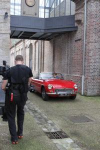 Tournage du clip Bye bye Manchester de Mélanie Pain, réalisé dans l'ancienne usine textile Gasse et Cantelou d'Elbeuf sur Seine en novembre 2012.