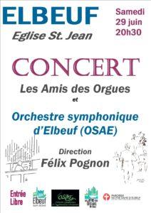 Concert orgue et OSAE