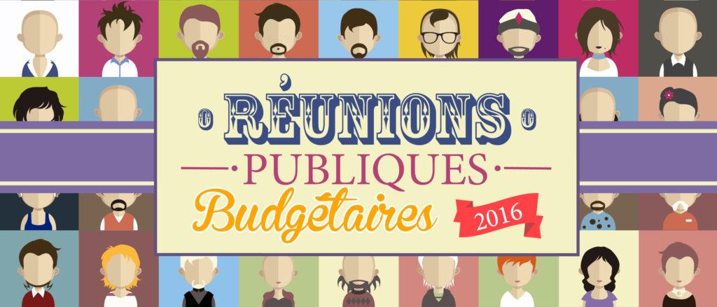 Réunions publiques budgétaires 2016