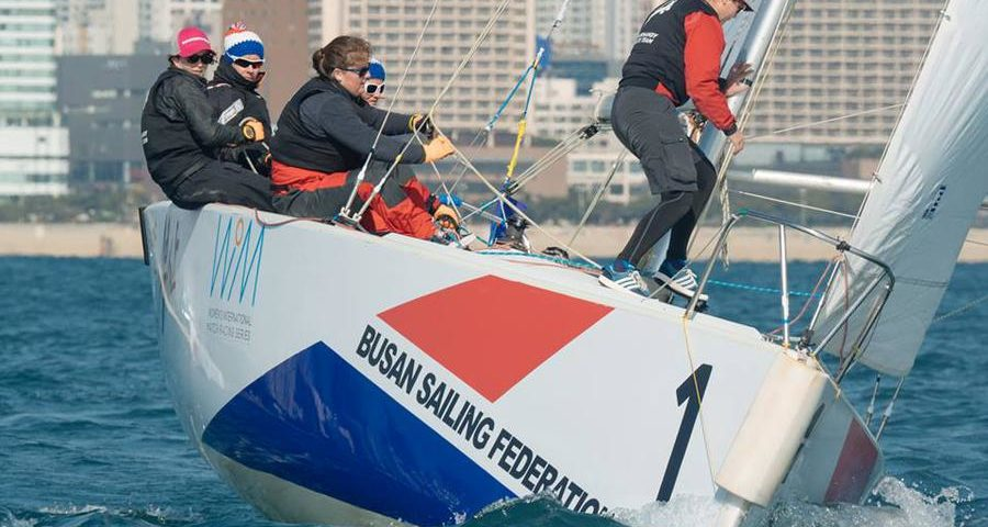 Match racing voile féminine