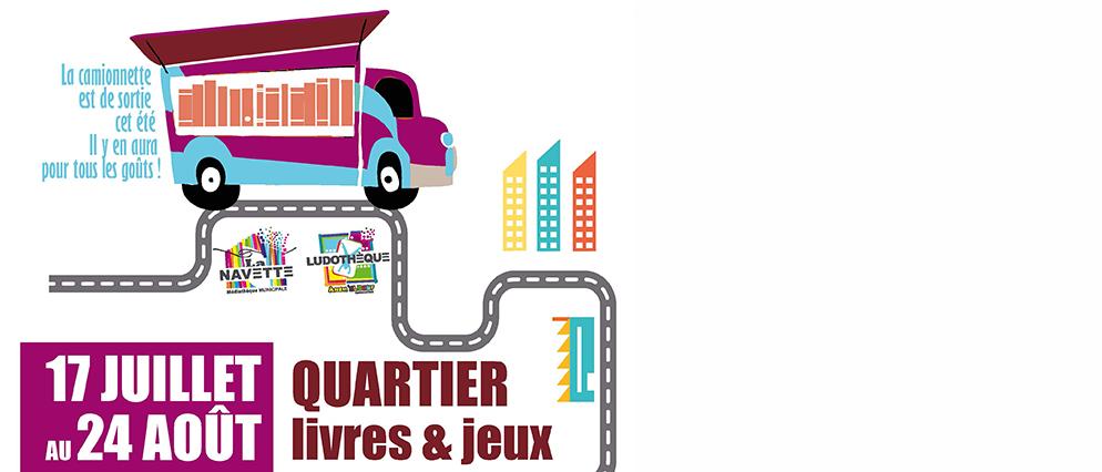 Camionnette quartiers livres