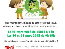 Affiche collecte papier ecole Brassens