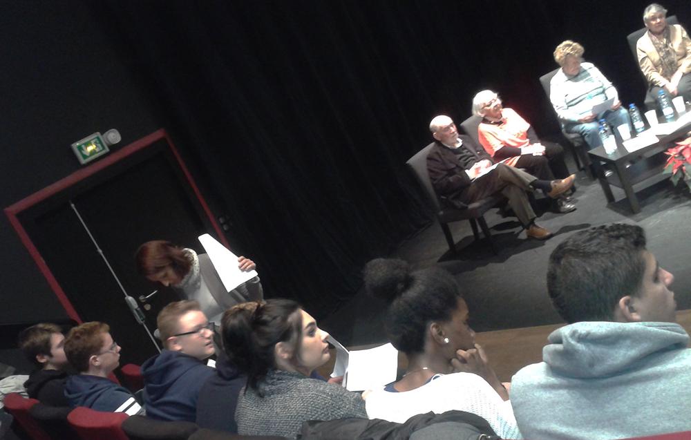 Rencontre entre les élèves et des témoins de la Seconde Guerre mondiale