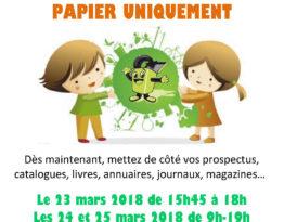 affiche collecte papier école Brassens