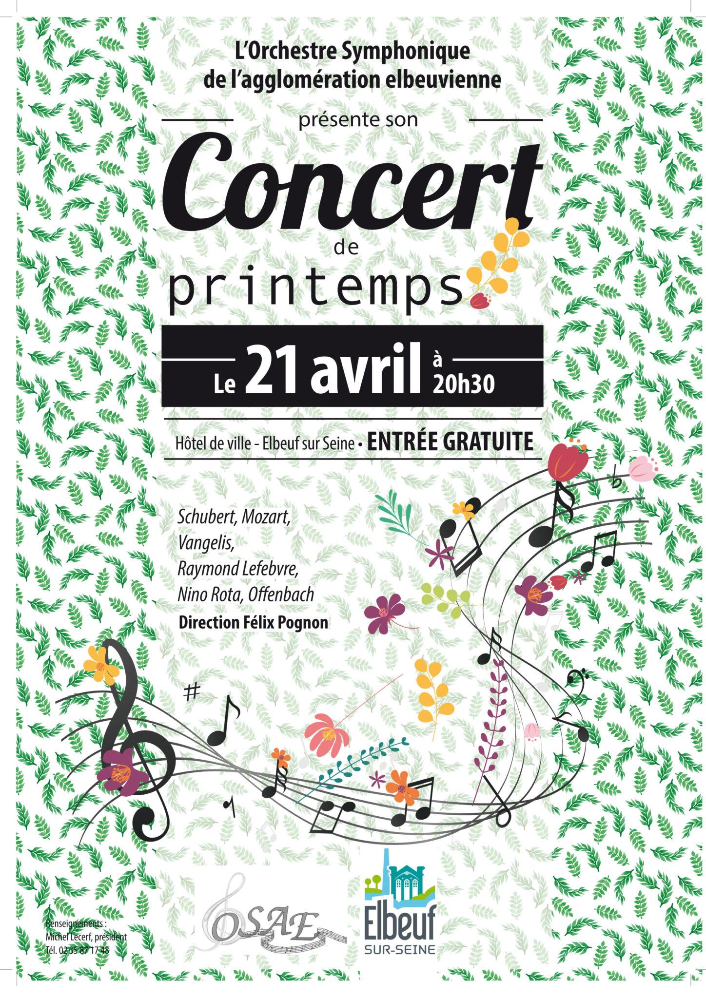 Concert de l'Orchestre symphonique de l'agglomération elbeuvienne