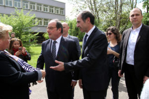 Francois Hollande lycée Maurois