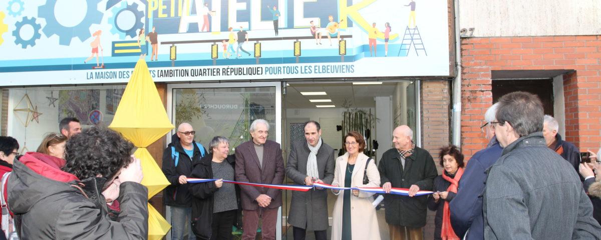 inauguration petit atelier quartier ambition république Elbeuf